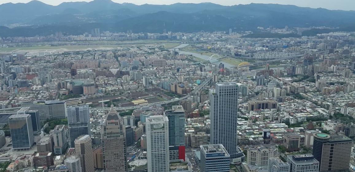 Panoramic view from Taipei 101