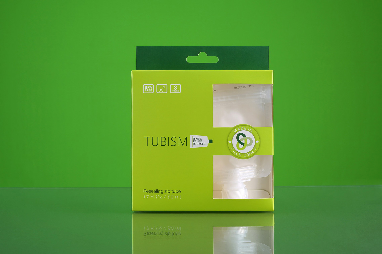 Tubism travel containers - pack of three 50 ml tubes