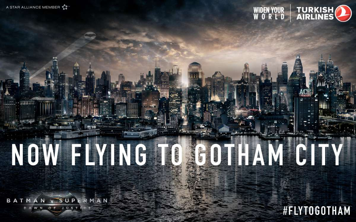 Turkish Airlines: now flying to Gotham City