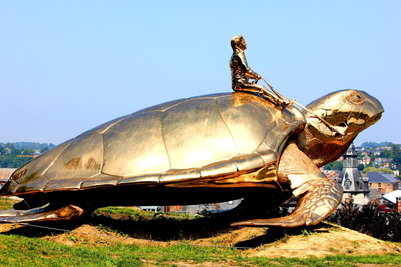 The turtle is a symbol of the slow pace of life in Namure