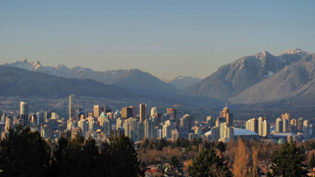 Vancouver skyline and mountains