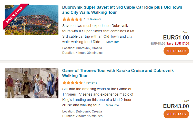 Dubrovnik tours and activities