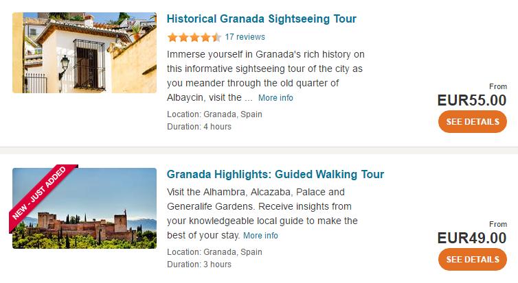 Granada tours and activities