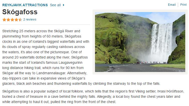 Skogafoss tours