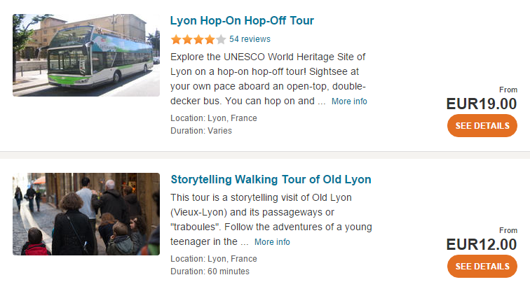 Lyon tours and activities