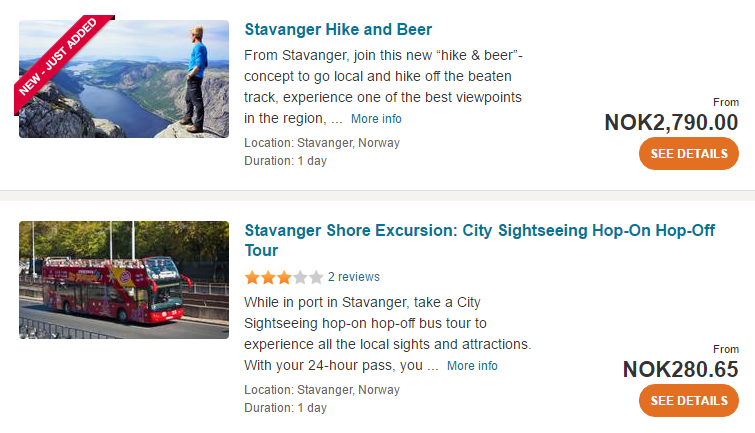Stavanger tours & activities