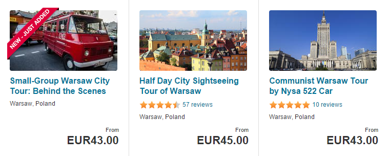 Warsaw tours & things to do