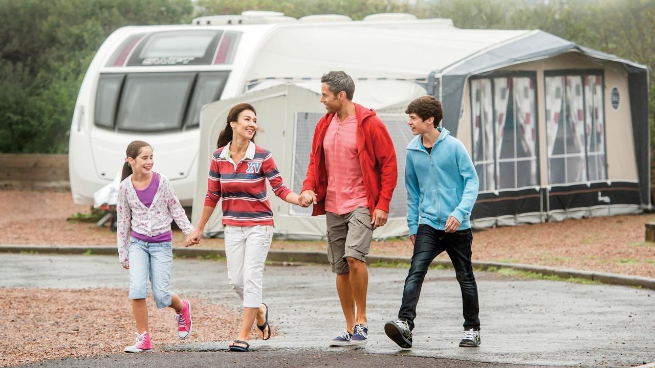 Woolacombe Bay family camping